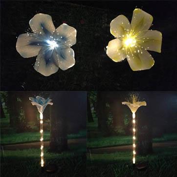 光ファイバーの花の装飾ライト