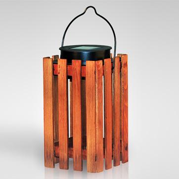太陽木製ランタンライト